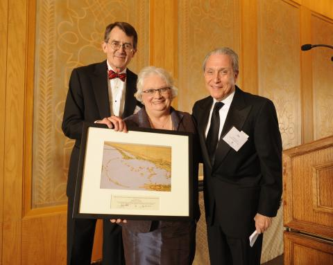 Judy Aiello, Jordan Peters, and Jim Klutznick at the 82nd Annual Initiation Banquet of the Ely Chapter (April 2012)